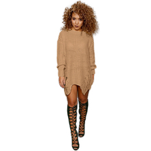 European American Style New Arrival Knit Women Pullovers Dress Fashion O neck Long Sleeve Winter Vestido Casual Sweater Dresses(China (Mainland))