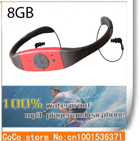 2015 High Quality 8GB Waterproof MP3 Player Sport MP3 Music Player FM Radio Swimming Surfing SPA IPX8 drop shipping(China (Mainland))