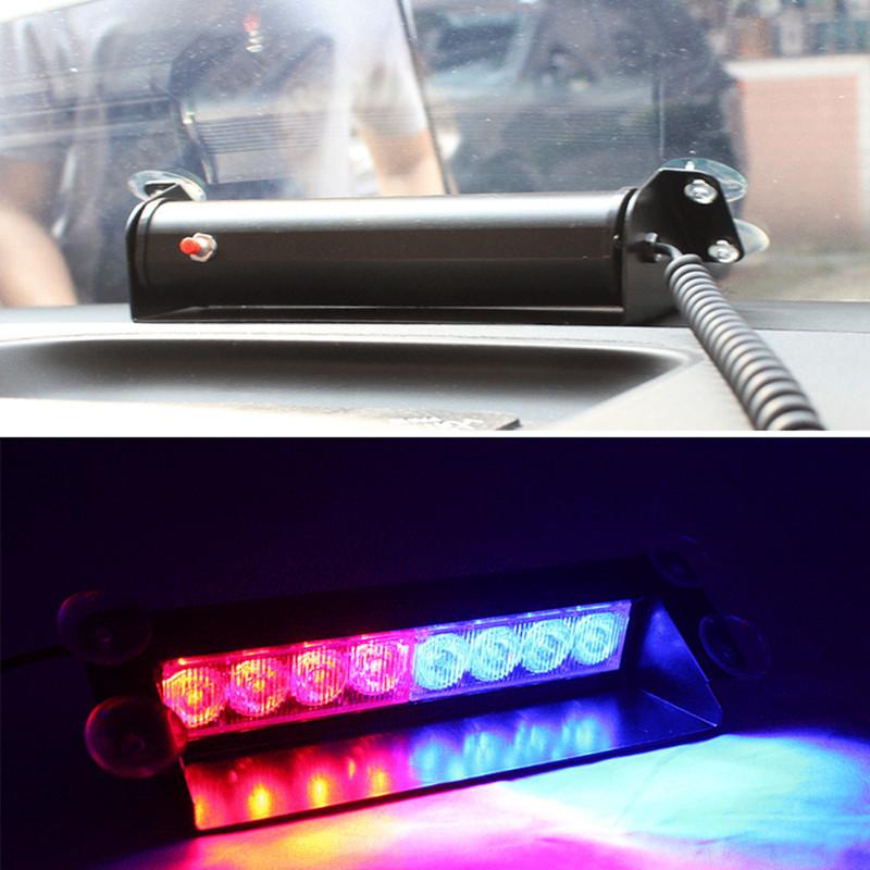 red blue car police strobe flash light dash emergency 3 flashing light. Black Bedroom Furniture Sets. Home Design Ideas