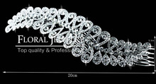 New 2015 Large Crystal Imitation Gemstone Bridal Hair Combs Hairpin Wedding Hair Accessories Hair Jewelry FS043