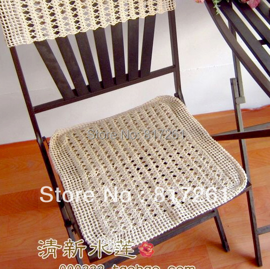 Free Shipping Cotton Crochet Lace Chair Cushion For Chair Back Sleeve Dining Chair Pad 100