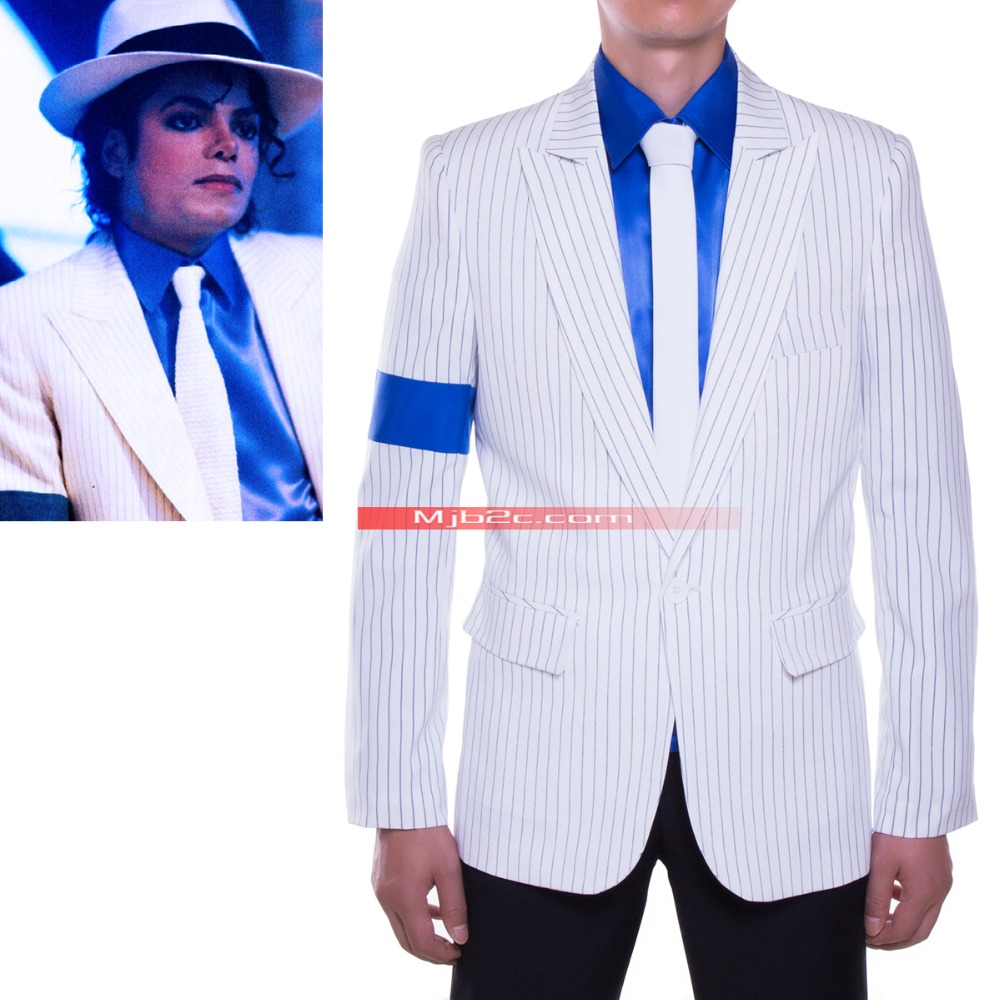 WIDE stripes-Michael Jackson Costume - Michael Jackson Smooth Criminal Suit - Free ShippingОдежда и ак�е��уары<br><br><br>Aliexpress