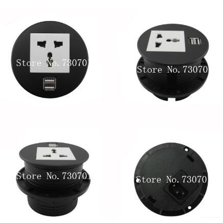 Round Table Mount Socket with Universal/UK/EU/USA power and RJ45/rj11/HDMI/dual USB /USB european USB usb multi charge sockets(China (Mainland))