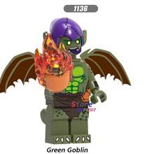 Único Filme Maravilha Sandman Deadpool Final Gwen Miles Green Goblin Spiderman Venom building blocks brinquedos para crianças(China)