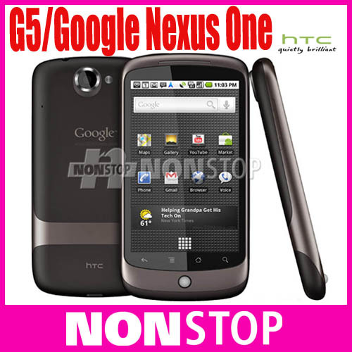 G5 Unlocked Original HTC Google Nexus One G5 Android 3G 5MP GPS WIFI 3.7''TouchScreen Unlocked Mobile Phone(China (Mainland))