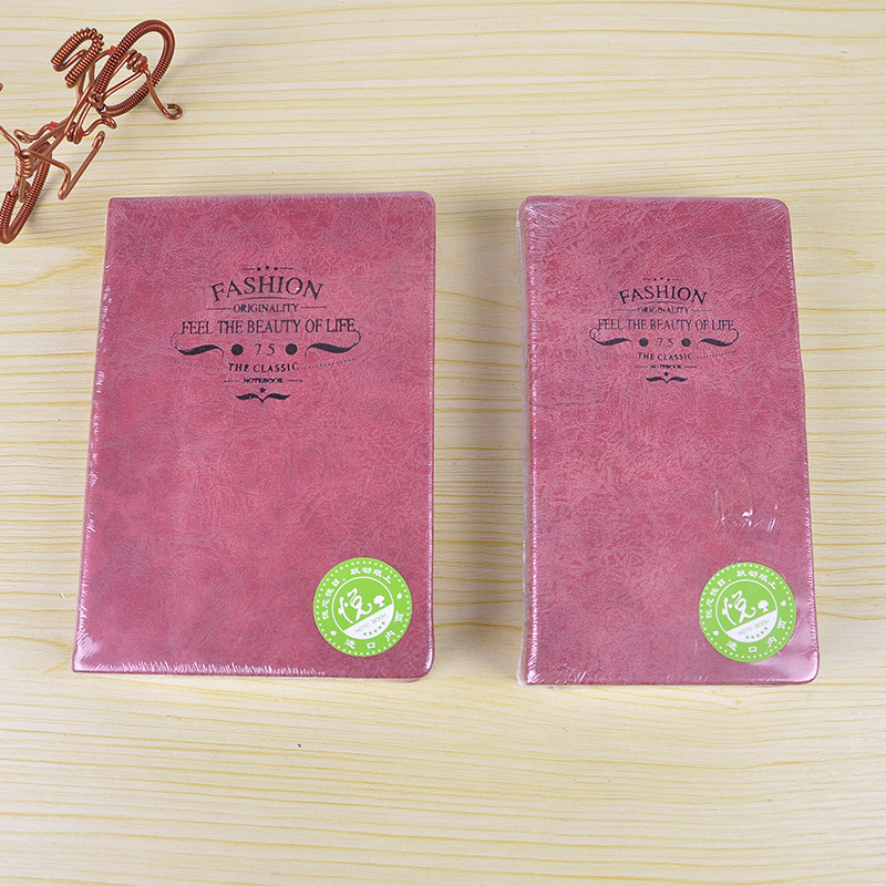 Korea stationery wholesale Ya Shaka Pink Lady leather diary notepad notebook 405g<br><br>Aliexpress