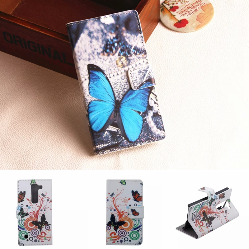Flower Leather Case For LG Spirit 4G LTE H440N H420 H440Y H422 C70 Phone Cases Stand Wallet Fundas Back Cover Shell Bag Holder(China (Mainland))