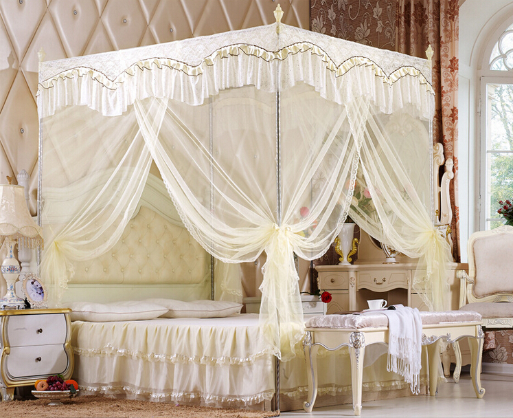 Accueil moustiquaire trois portes luxe bed canopy filet - Moustiquaire lit double ...
