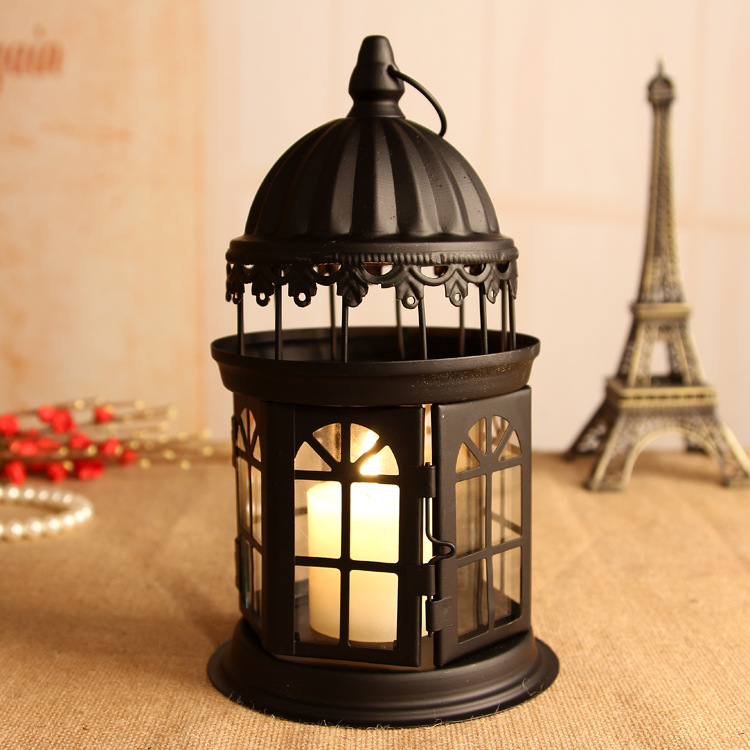 TY218 candle holders cage ornaments home decor candle