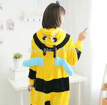 Honey Bee Cosplay Costume Cartoon Kawaii Pyjamas Sleepwear Halloween Anime Onesie Animal Pajamas for Adults