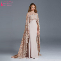 Arabic Evening Prom Dress Elegant Mermaid Dress African Wedding gowns 2016 vestido de festa robe de