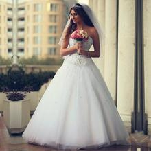 Buy 2017 Cheap Wedding Dresses Made China Sweetheart Beaded Ball Gown Vestido De Noiva 2017 Saudi Arabia Bridal Gowns C45 for $152.99 in AliExpress store