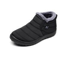 MEMUNIA Artı boyutu 35-43 2019 Yeni kar botları kalın kürk üzerinde kayma sıcak aşağı kış çizmeler kadınlar bayanlar düz ayak bileği pamuklu ayakkabılar(China)