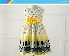 Unkids Kids Girls Dress cute peacock color sleeveless princess dress circle Korean Fashion Blue children s