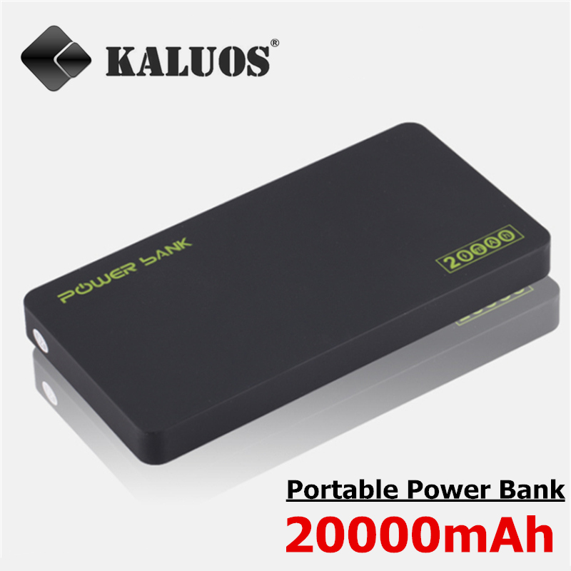 KALUOS 20000mAh High Capacity Portable Power Bank Fast Charger For iPhone 5 5S 6 Samsung Xiaomi LG Huawei External Battery Pack