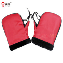 The new electric motorcycle rider to cover velvet warm winter cold wind jacket handlebar gloves Knight(China (Mainland))