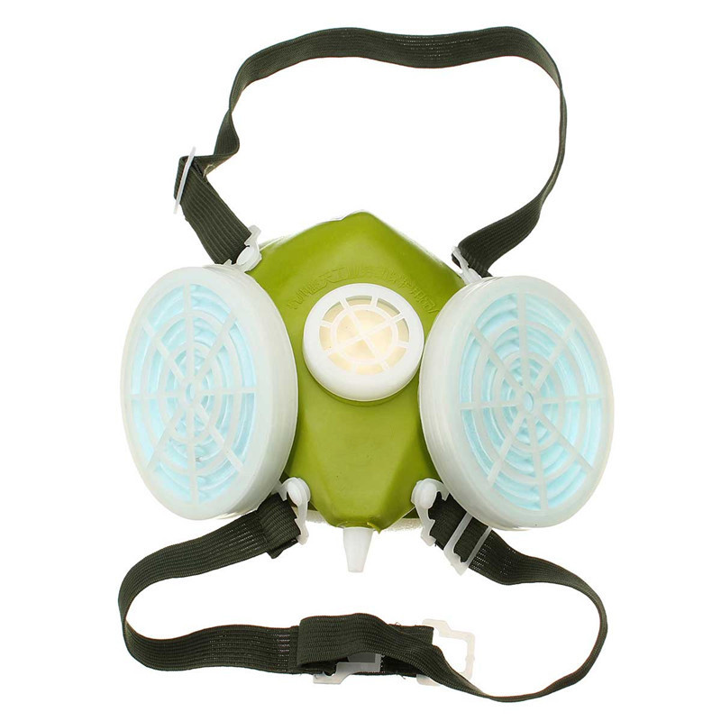 Double Cartridges Respirator Mask Industrial Gas Chemical Anti-Dust Spray Paint Respirator Face Masks Filter Glasses Goggles(China (Mainland))