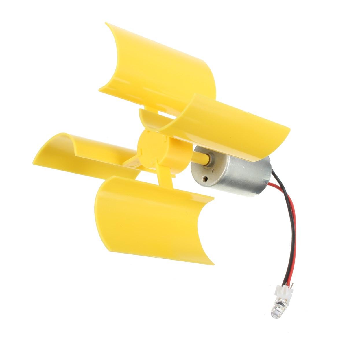 Vertical Micro Wind Turbines Blades Generator DIY Set Small DC Motor Small volume great effect plastic blade light durable(China (Mainland))