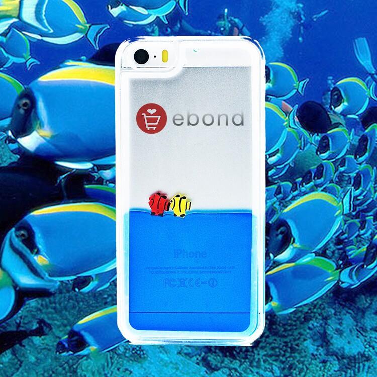 New Clear Back Case Fish Transaprent Cover Tank Liquid Aquarium Phone Case For iPhone 5 iPhone 5s(China (Mainland))