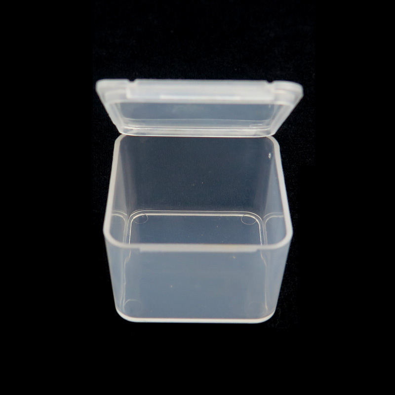 10pcs/pack 3.7cm*3.7cm*2.5cm Plastic Fishing Box High Strength Transparent Visible Pocket fly box for Fishing Accessaries(China (Mainland))