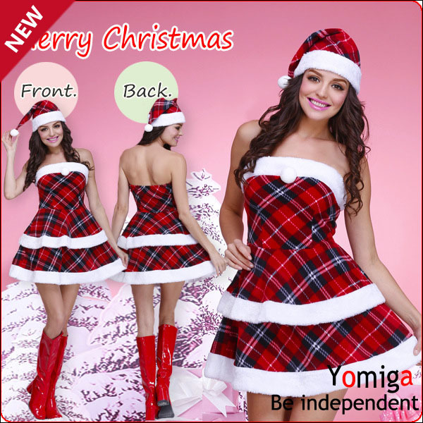 Strapless Sexy New Winter Christmas Costumes Dress Onesie Funny Xmas Clothing Carnival Cos Play