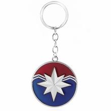 Carol Danvers 1 Pcs Superhero Capitão Marvel Keychain Encantos Action Figure Brinquedos Para Presente de natal 404(China)