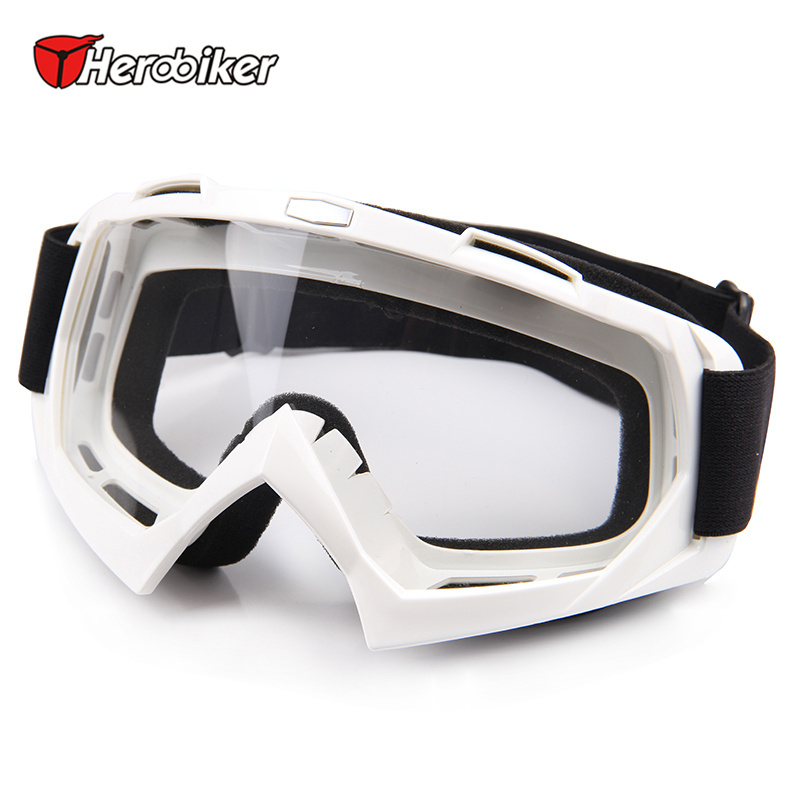 HEROBIKE Ski Snow Motorcycle Off-Road Racing Goggles Winter Skate Sled ATV Eyewear Motocross DH MTB Glasses Single Lens Clears(China (Mainland))