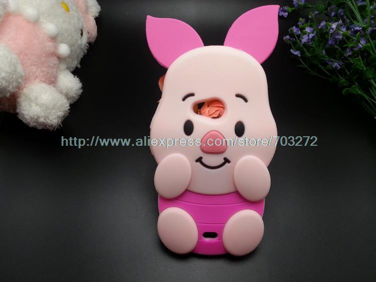 3D Cartoon Piglet Soft Silicon case For Nokia Microsoft Lumia 535 1090 1089 N535 Pink Pig Rubber Silicone cover phone cases(China (Mainland))