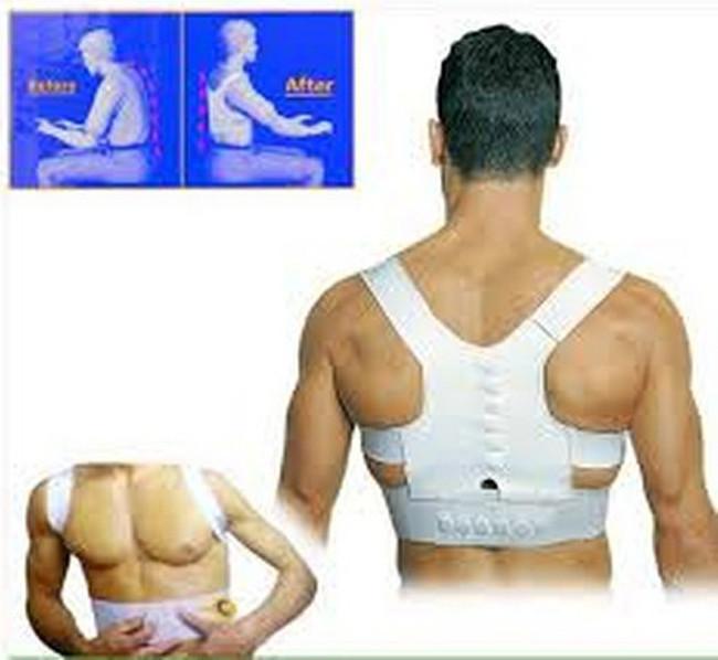 Sport Shoulder Brace Lumbar Support Belt Back Corrector Men Back Support Corrector Belt Band Feel Young Belt Magnetic(China (Mainland))