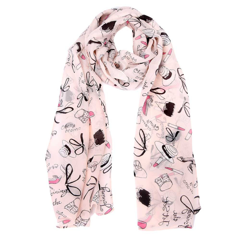 Best Deal Fashion Soft Warm 150CM Pink Printed Women Chiffon Scarf Scarves Lady Spring Shawl Wrap Stole Muffler Gift 1PC