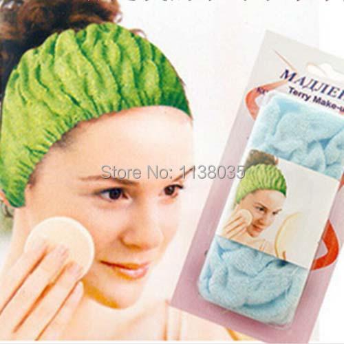 Hair Clip Crown Stretch cotton headband beauty makeup tools cosmetic wash bath towel turban headband necessary hair accessories(China (Mainland))