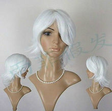 New Cosplay Become Warped hair White Christmas Halloween wig @@ FREE SHIPPING Party hair