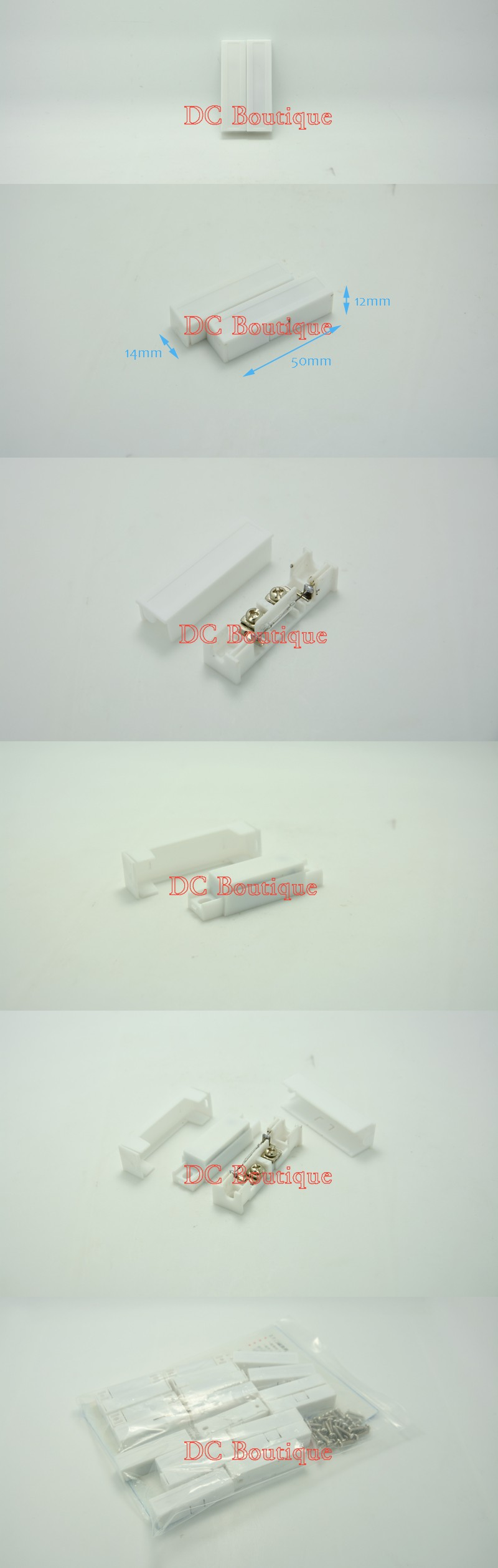 Brown Recessed Type Security Alarm Contacts Door Window Reed Switch Contact Wiring Series 5 Image