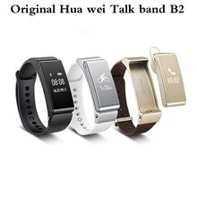 2016 новый оригинальный Huawei TalkBand B2 умный браслет часов Bluetooth фитнес Smartwatch телефон группа покрова-mate для IOS телефон