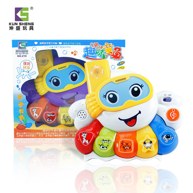 Octopus children electronic organ cartoon toy electric piano educational toys electric toy for children(China (Mainland))