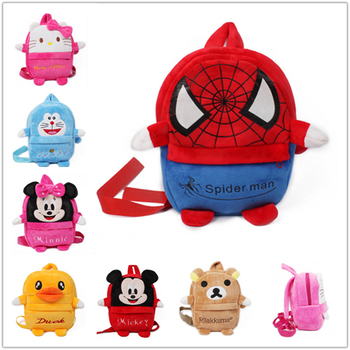 C6 styles spider man Birthday gift toy backpack school bags boy & girl Cartoon kindergarten Plush children Kid mochilas infantis