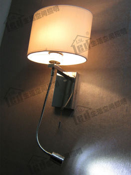 Headboard Light Lamp/4 Stages Switch Design/Color&Shape of Fabric Shade Optional/Version with wall plug available