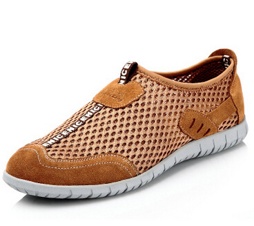 Breathable hollow out mesh casual shoes in summer Set of high quality leather shoes surface foot(China (Mainland))