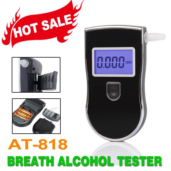 2016 горячая распродажа цифровой тестер алкоголя -- патент AT-818 версия с 5 мундштуков спрятаться в 5 шт./упак.
