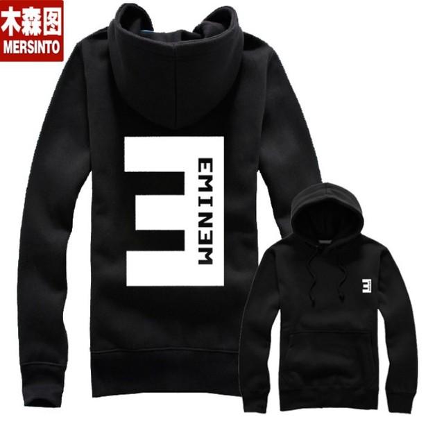 autumn hiphop eminem clothes fleece with a hood outerwear hiphop zipper sweatshirt punk