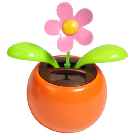 Solar Toy Dancing Flower Assorted Colors Great as Gift or Decoration(China (Mainland))