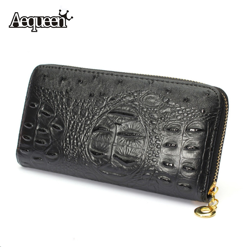 Brand New 2016 Women Wallets Ostrich Grain Long Design Purses Leather Multi-Card Position Lady Zipper Wallet Phone Bag Fashion(China (Mainland))