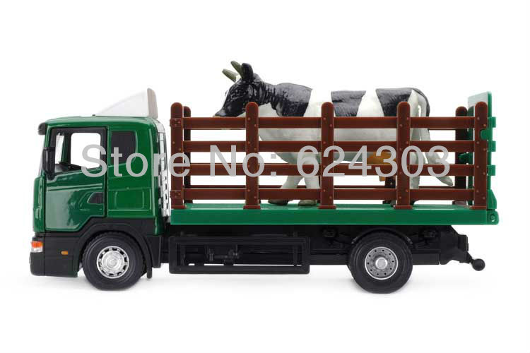 Brand New Scania Series 1:43 Scale Animal Transport Truck Diecast Model In Stock(China (Mainland))