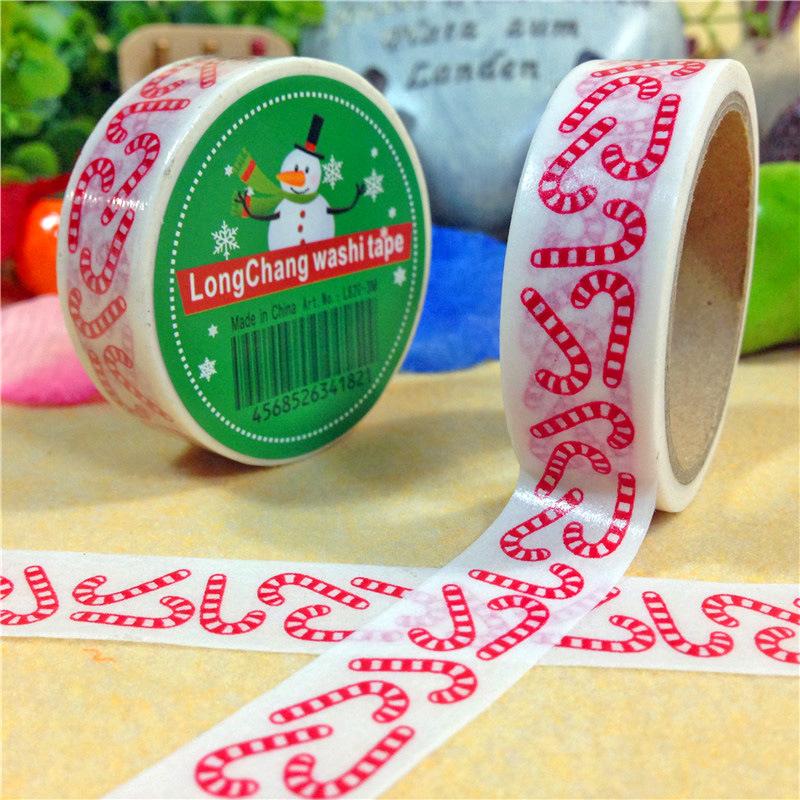 Гаджет  New 1.5CM*5M Christmas Washi Tape DIY Sticker Decorative Masking Tape None Офисные и Школьные принадлежности