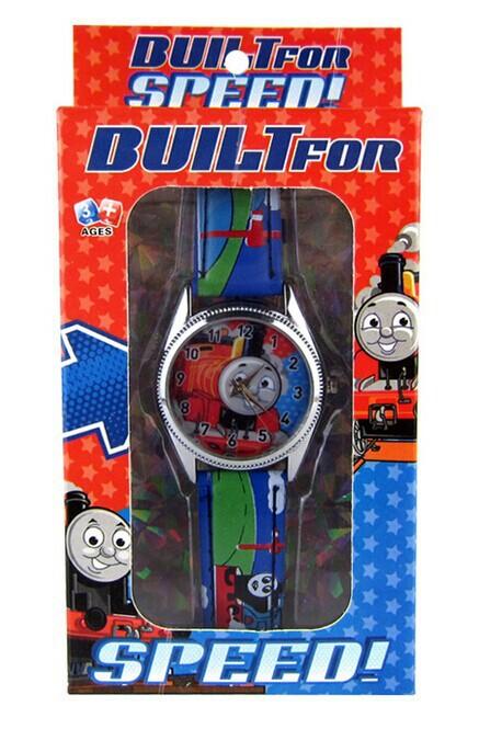 Free shipping Kid Children Cartoon Wrist watch Train Thomas Watches with Giftbox Retail Box 10pcs(China (Mainland))