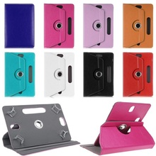 360 Rotating Leather Stand Case Cover For Excelvan Tablets DuaLCore 7