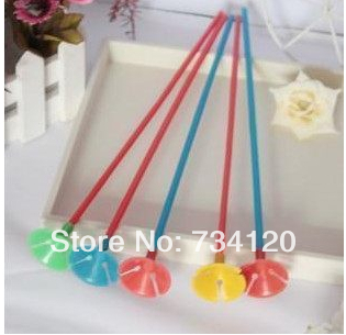 B021, Free shipping!Colorful balloons Joe rod gas clubs/balloon holder / 50 sets of plastic pipe(China (Mainland))