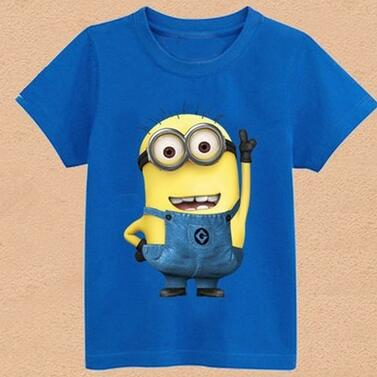 Hot New 2016 Cartoon T shirts Anime Figure Despicable Minions Clothes Costume Children's Clothing Child T- shirts Free Shipping(China (Mainland))