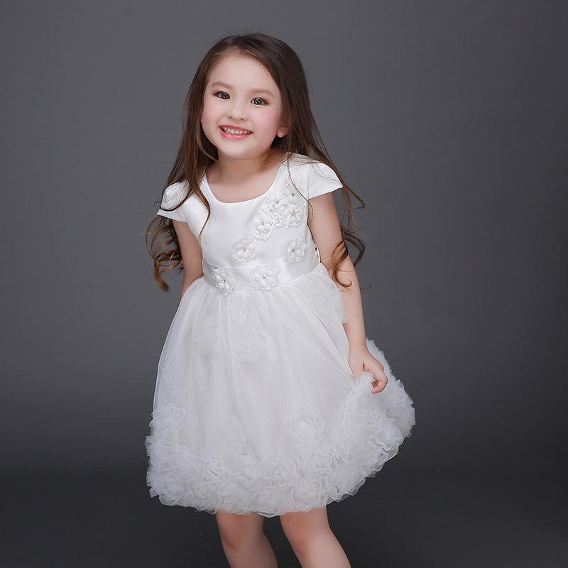 New 2016 Flower Girl Dress Cute Baby Girls Wedding Dresses Toddler Girls party TuTu Dress High-Quality Big Girls Dress