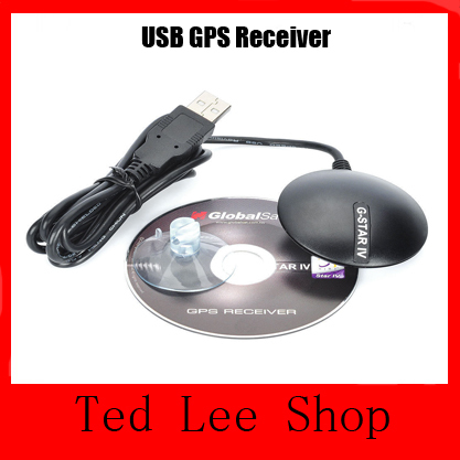 Hot GlobalSat BU-353S4 USB GPS Receiver SiRF Star IV with Cable G Mouse For Laptops PC Portable Mini GPS Receiver Free shipping(China (Mainland))